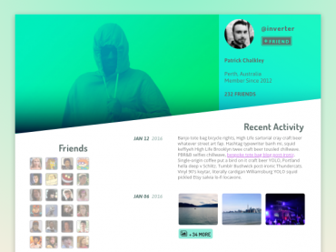 Daily UI 006 – User Profile